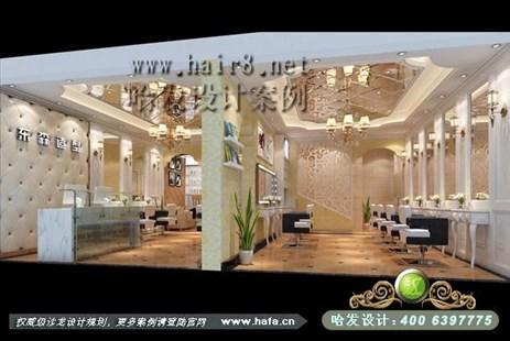 浙江省嘉兴市欧式奢华大气时尚美发店装修设计案例