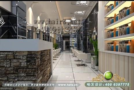 江苏省徐州市诠释黑白经典美发店装修设计案例